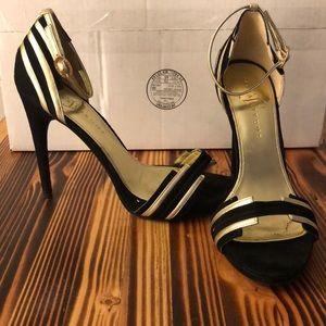 Ivanka Trump Black & Gold Heels